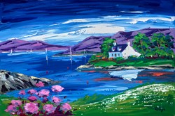 Croft Reflections II by Lynn Rodgie -  sized 24x16 inches. Available from Whitewall Galleries